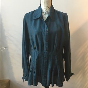Col water Creek Teal Blouse